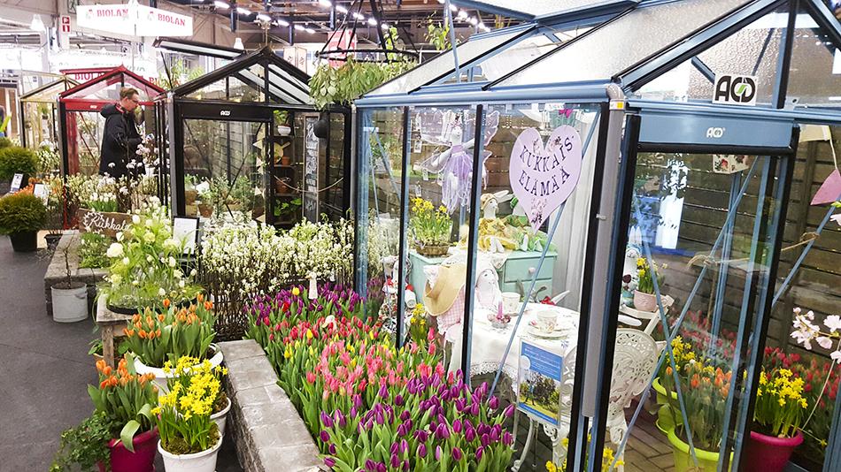 Blogikylän kasvihuoneet kevätmessuilla