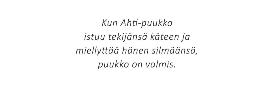 Ahti-puukko käsityönä