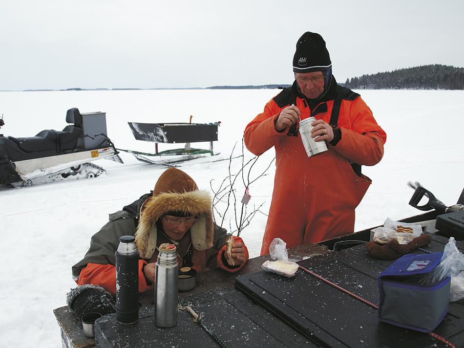 kalaverkoilla - talvikalastus