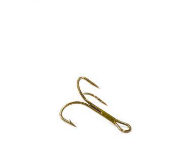 O'Shaugnessy treble, ruskea, koko 10 (pit. 14mm)