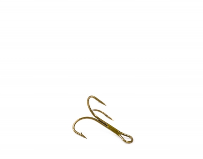 O'Shaugnessy treble, ruskea, koko 14 (pit. 10mm)
