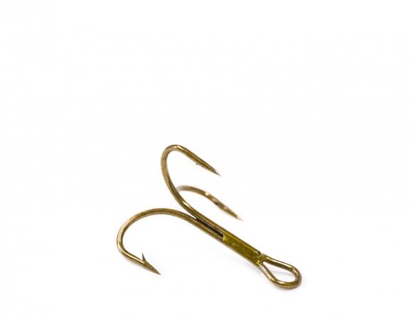 O'Shaugnessy treble, ruskea, koko 6 (pit. 20mm)