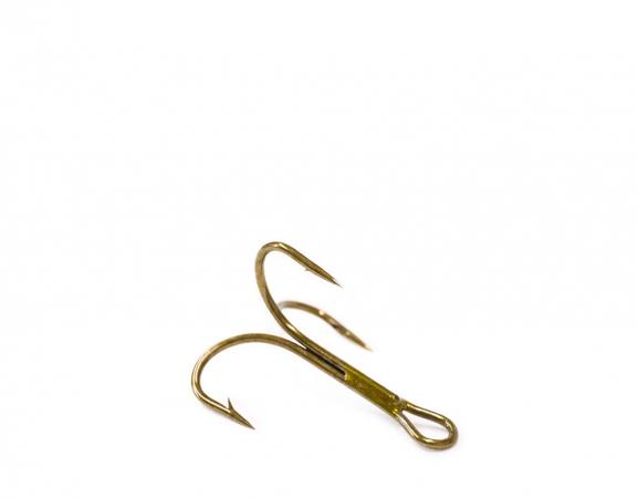 O'Shaugnessy treble, ruskea, koko 8 (pit. 18mm)
