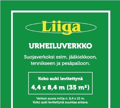 Urheiluverkko (8.4 x 4.4 m)