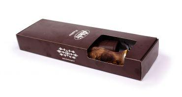 Puukko Ahti Leuku 14 ja hiomakivi lahjapakkauksessa