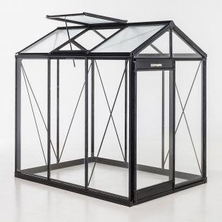 Växthus ACD Piccolo 3,6 m² 4mm säkerhetsglas, svart