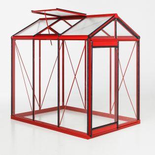 Kasvihuone ACD Piccolo 3,6 m² 4mm turvalasi, punainen