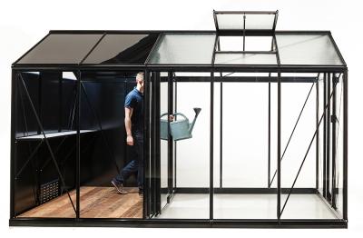Kasvihuone ACD Retro Combo Plus 8,6 m², musta runko, POISTOTARJOUS
