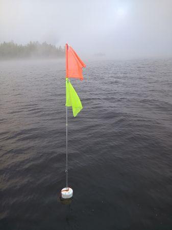 Ahti-lippumerkki pituus 2,4 m 2 lippua