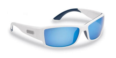 RAZOR Matte White/Smoke-Blue Mirror, Flying Fisherman