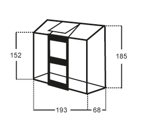 Kasvihuone Halls Altan 1,3 m² lasilla