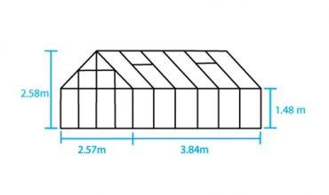 Kasvihuone Halls Magnum 9,9 m² 6 mm kennolevyllä, alumiini