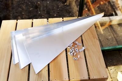 Alumiinikannattimet, 50 cm 3 kpl