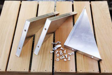 Alumiinikannattimet, 25 cm 3 kpl