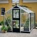 Kasvihuone Juliana Compact 6,6 m² turvalasilla, alumiini/musta runko
