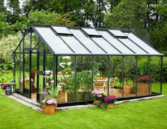 Kasvihuone Juliana Gardener 18,8 m² turvalasilla, harmaa runko