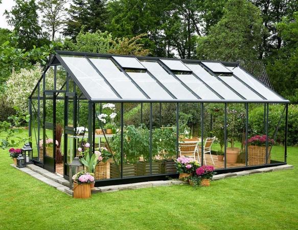 Kasvihuone Juliana Gardener 21,4 m² turvalasilla, harmaa runko