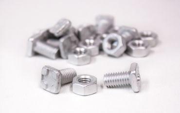 Kasvihuonepultit ja mutterit, alumiini, 10+10 kpl