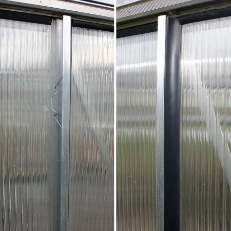 Kasvihuone Juliana Junior 12,1 m² kennolevyllä, antrasiitin harmaa