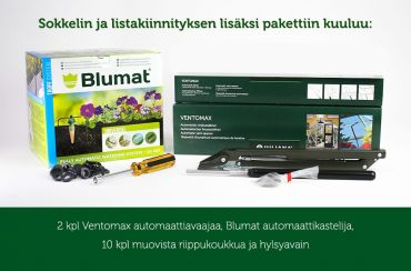 Juliana Junior 10,2 m² -kasvihuonepaketti varuste-edulla