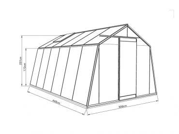 Kasvihuone ACD Action 13,6 m²