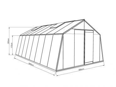 Kasvihuone ACD Action 22,5 m²