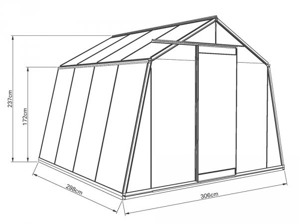 Kasvihuone ACD Action 9,1 m²