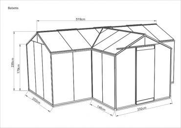 Kasvihuone ACD Babette 15,4 m²