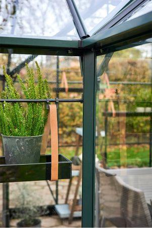 Halls Garden Room 12,9 m² musta -kasvihuonepaketti varuste-edulla
