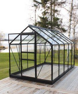 Halls Popular 6,2 m² turvalasi -kasvihuonepaketti varuste-edulla