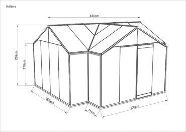 Kuvan huoneessa lisäovi (norm. 1 ovi)