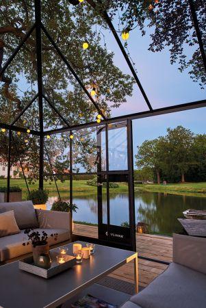 Kasvihuone Juliana Grand Oasis 18,8 m² turvalasilla, antrasiitin harmaa