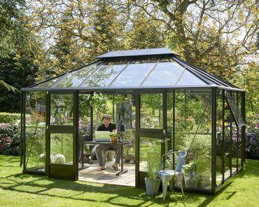 Växthus Juliana Grand Oasis 13,0 m² säkerhetsglas, antracitgrå