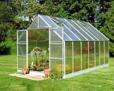 Växthus Halls Magnum 11,5 m² 6 mm isolerplast aluminium