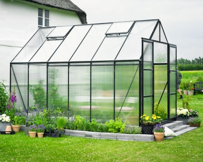 Kasvihuone Halls Magnum 9,9 m² 6 mm kennolevyllä, vihreä väri