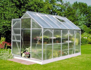 Växthus Halls Popular 6,2 m² isolerplast aluminium
