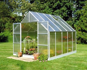 Halls Magnum Växthus 8,3 m² 6 mm isolerplast, aluminium