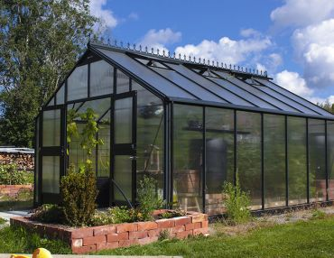 Kasvihuone Juliana Gardener 18,8 m² 10 mm kennolevyllä, antrasiitti/musta väri