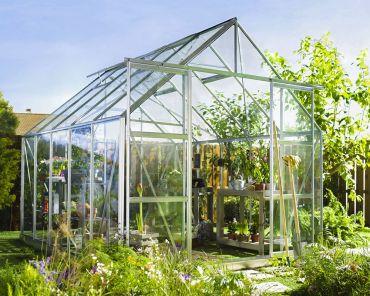 Växthus Halls Magnum 8,3 m² säkerhetsglas, aluminium