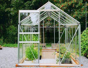 Växthus Halls Popular 6,2 m² glas, aluminium