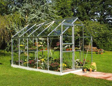 Växthus Halls Popular 6,2 m² säkerhetsglas, aluminium
