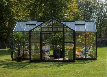 Kasvihuone Botanica E - musta 21,5 m²