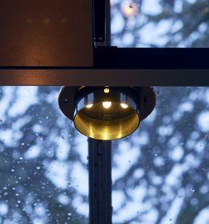 Solcellslampa till växthus