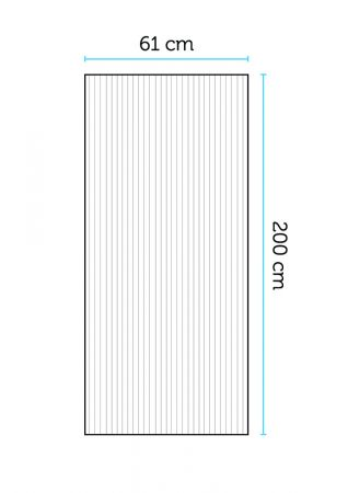 Kennolevy 6 mm, 61x200 cm