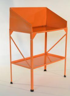 Kasvihuoneen työpöytä, 77 x 41 cm, oranssi