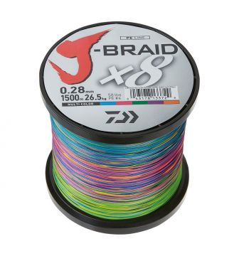 Kuitusiima J-Braid X8 103LB, 0,42 mm 1500 m Multicolor, Daiwa