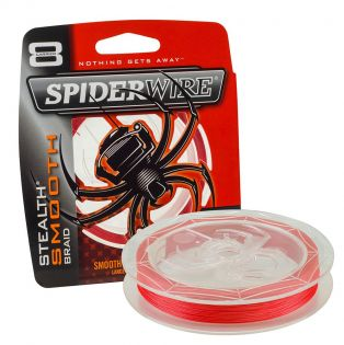Fiberlina Spiderwire Stealth Smooth 8, röd