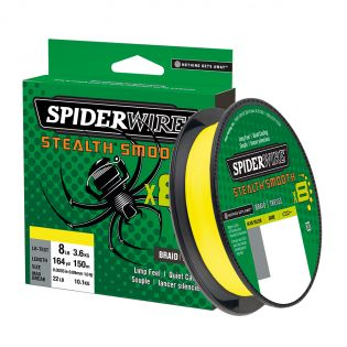 Fiberlina Spiderwire Stealth Smooth x8, 150 m, gul