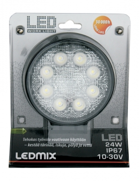 LEDMIX työvalo 24W 10-30V DC 1320 lm