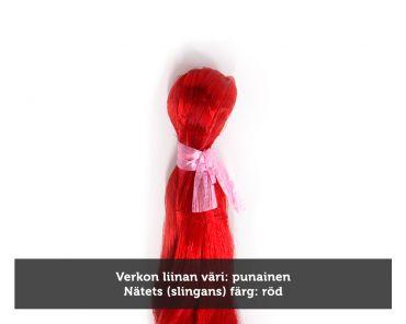 Kalaverkko 65mm 1,5m lanka 0,20 pituus 30m, punainen, Pietarin kaksoispaula